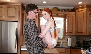 Don't be captivated by my foetus - teeny redhead teen dolly little copulates say no to big Hawkshaw instructor bruce job