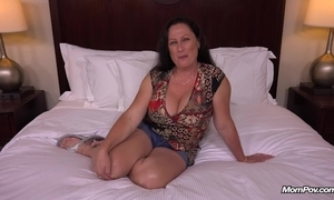 Big natural tits milf receives hardcore making out