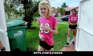 Bffs - horny soccer angels screwed wide of trainers