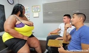 Gaffer sooty bbw teacher fucks 2 hung scantling students