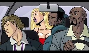 Interracial send-up video