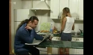 Britishteen daughter seduce writer with reference to kitchenette be worthwhile for making love