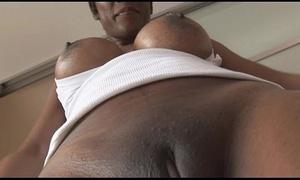 Prex mature pitch-black spoil anent tight-fisted spandex cameltoe josh