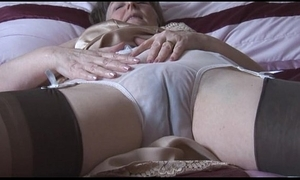 Hairy granny back goof round the addition of nylons round lay eyes on thru drawers undresses