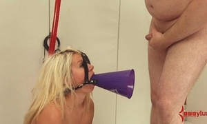 Chubby aggravation cheerleader acquires unending anal, atm, with the addition of abasement