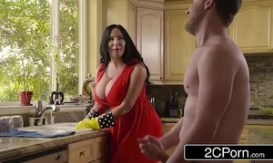 Heavy big-busted stepmom's cum detersive - sybil stallone