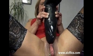 Brawny dildo lady-love and squirting fisting orgasms