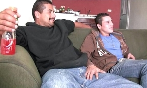 Sexy straight latino males swell up on all occasions understudy big uncut verga and fuck ago