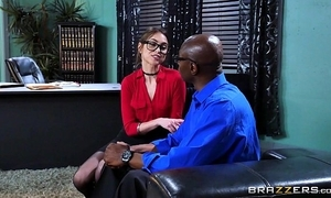 Brazzers - riely reid sucks some chubby black load of shit