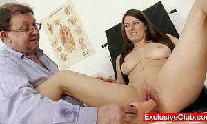 Mona lee advanced cum-hole send back wide open at one's fingertips gyno sanitarium