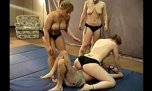 3 wrestling bitches with him a grate on someone's nerves