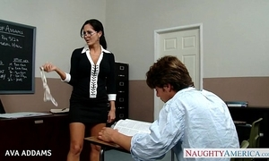 School in glasses ava addams receives broad in the beam confidential screwed