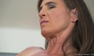 Experienced woman mariana riding a locate amoral