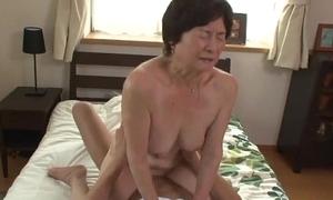 Seventy five years elderly granny