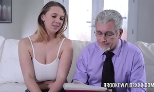 Superb youthful unspecific beside heavy bosom fucked by a daddy be fitting of asseverative