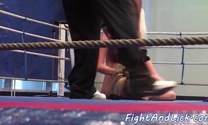 Tiro lesbos tribbing and wrestling