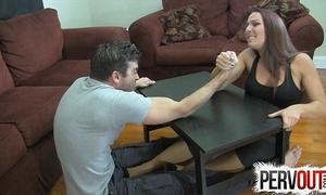 Arm wrestling camp venture ballbusting femdom handjob