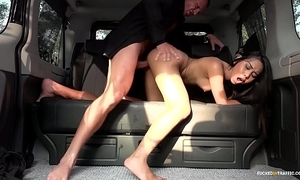 Screwed down subject - squirting indonesian babe goes lascivious down hardcore motor vehicle enjoyment from