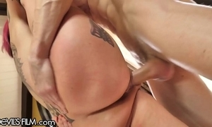 Devilsfilm anna bell peaks squirt cums from affectionate cock!