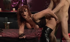 Fervent redhead slut in brazen tweeny receives drilled hard