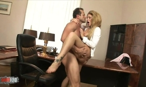 Fabulous chick in on one's high horse heels gratifying brass hat in his place